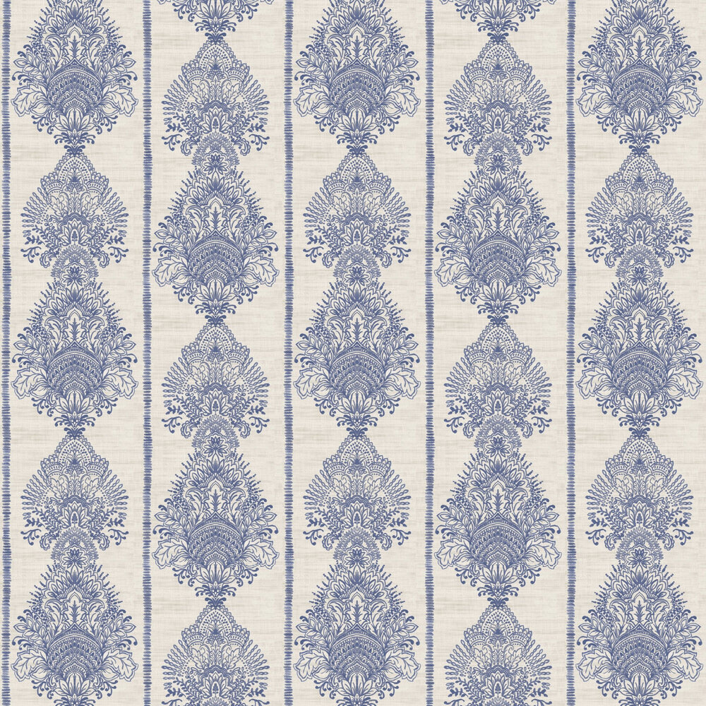 Arthouse Silk Road Damask Indigo Wallpaper - Product code: 610607
