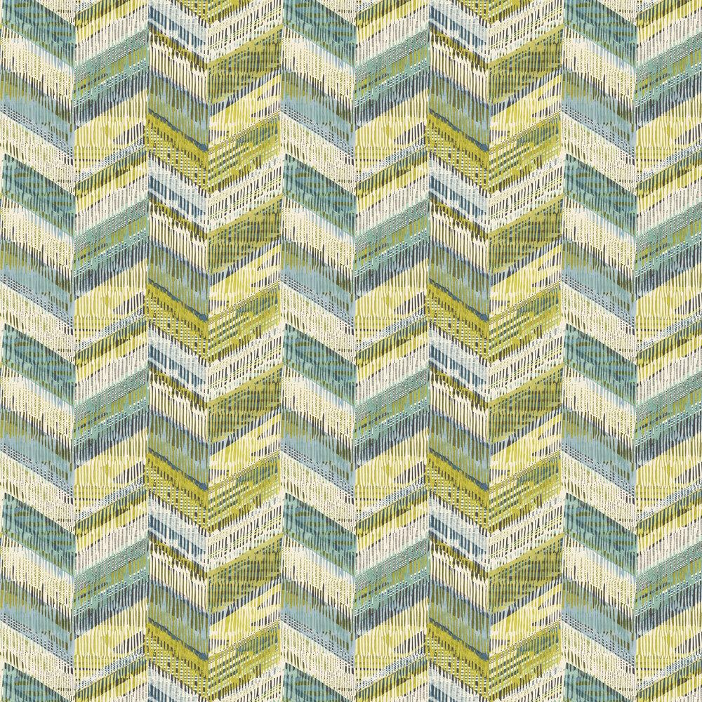Chevron Weave Wallpaper - Lime - by Arthouse