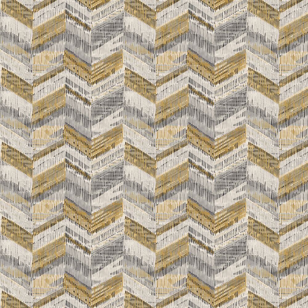 Arthouse Chevron Weave Ochre Wallpaper - Product code: 610801