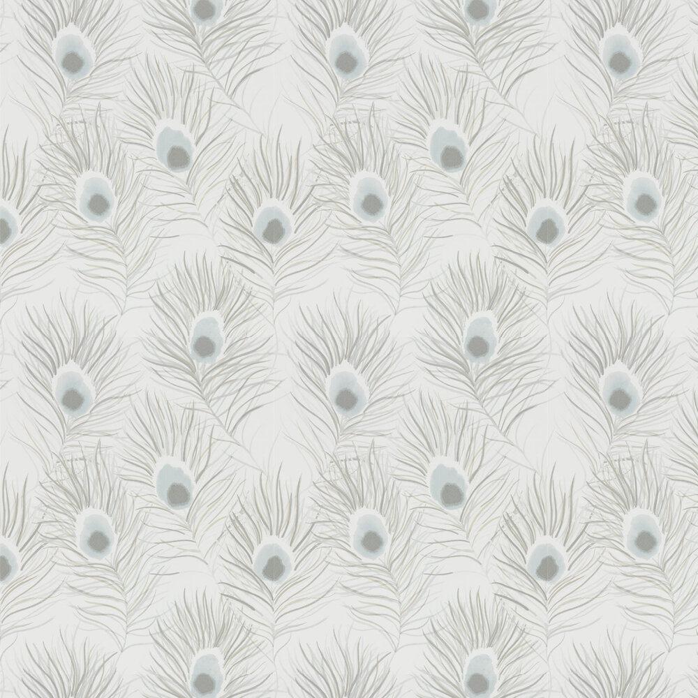 Orlena Wallpaper - Powder Blue/Gilver - by Harlequin