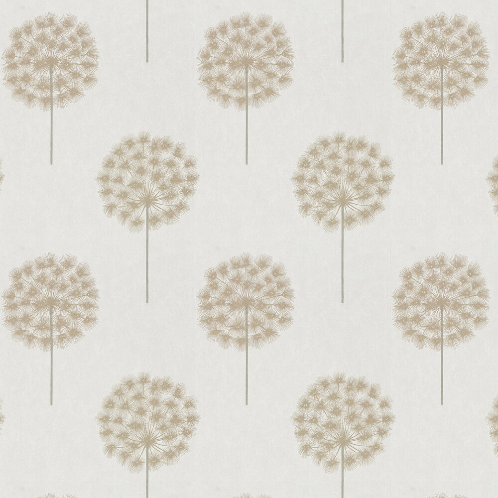 Amity Wallpaper - Linen/Chalk - by Harlequin