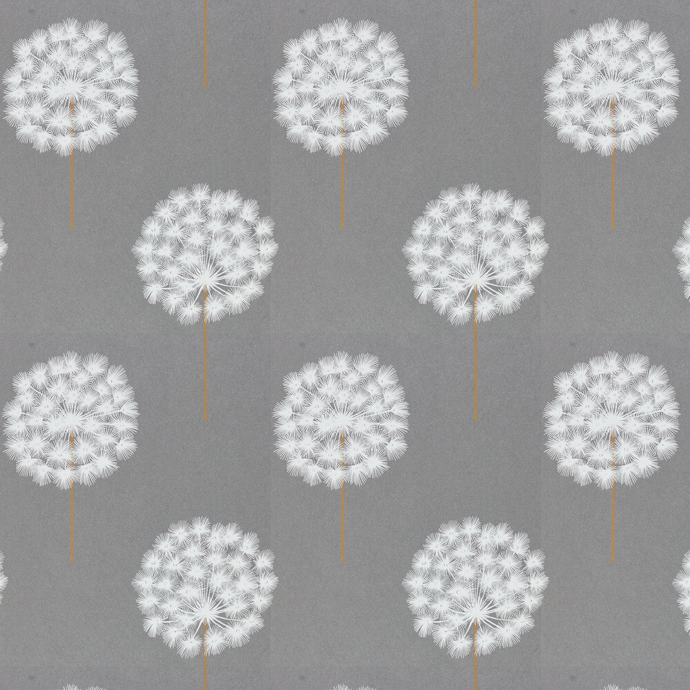 Amity Wallpaper - Pewter/Brass - by Harlequin