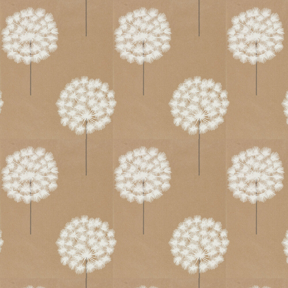Amity Wallpaper - Brass/Pewter - by Harlequin