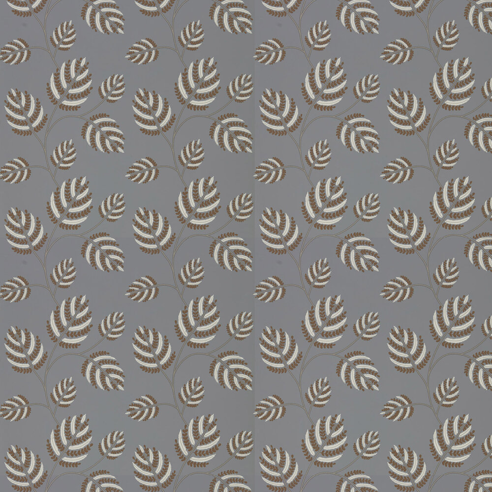 Marbelle Wallpaper - French Grey/Brass - by Harlequin