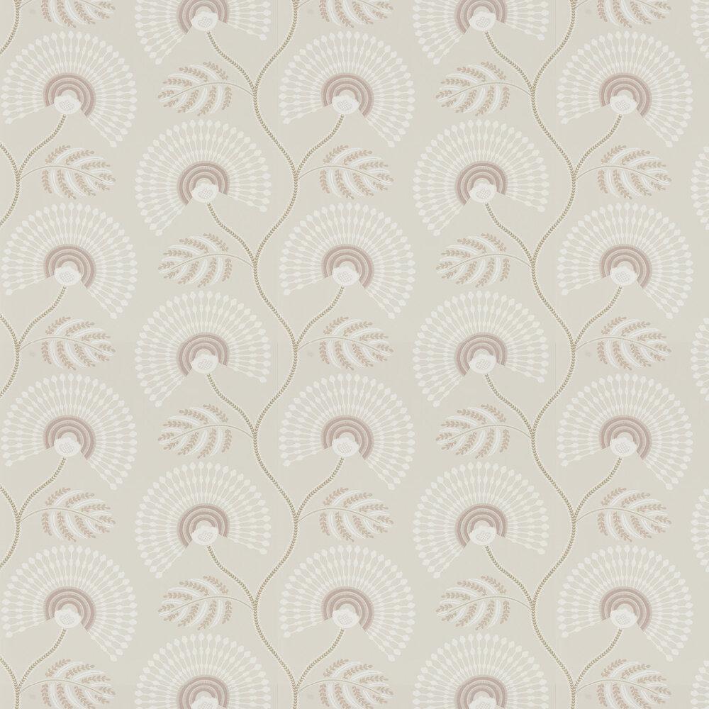 Louella Wallpaper - Rose Quartz/Pearl - by Harlequin