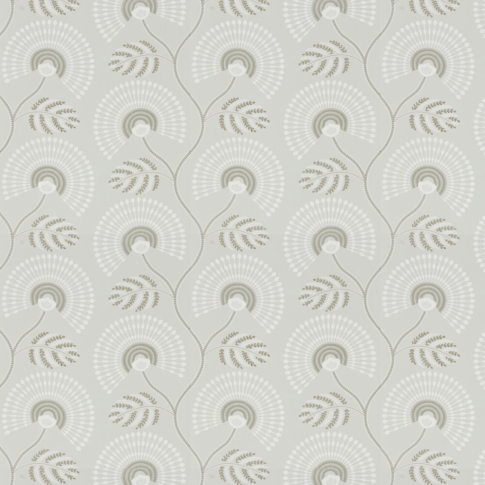 Louella Wallpaper - Linen/Silver - by Harlequin