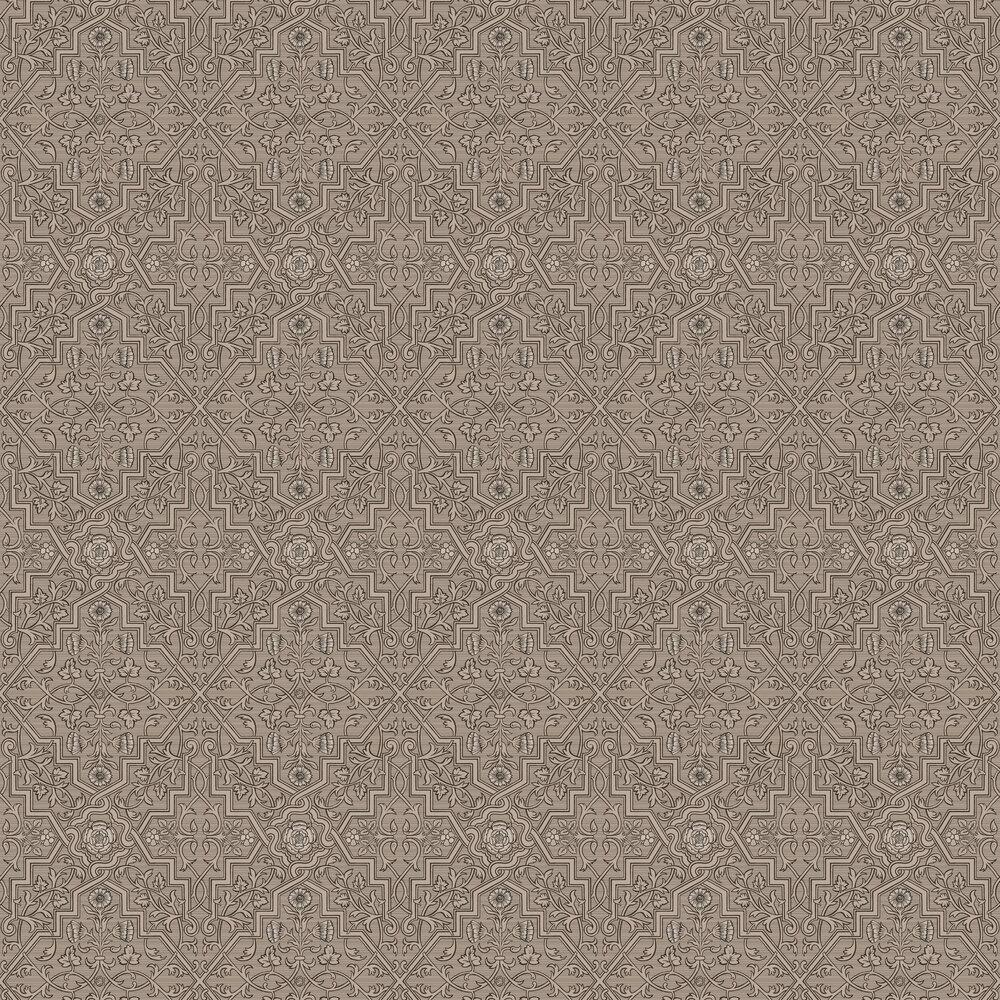 Rosenvinge Wallpaper - Brown - by Boråstapeter
