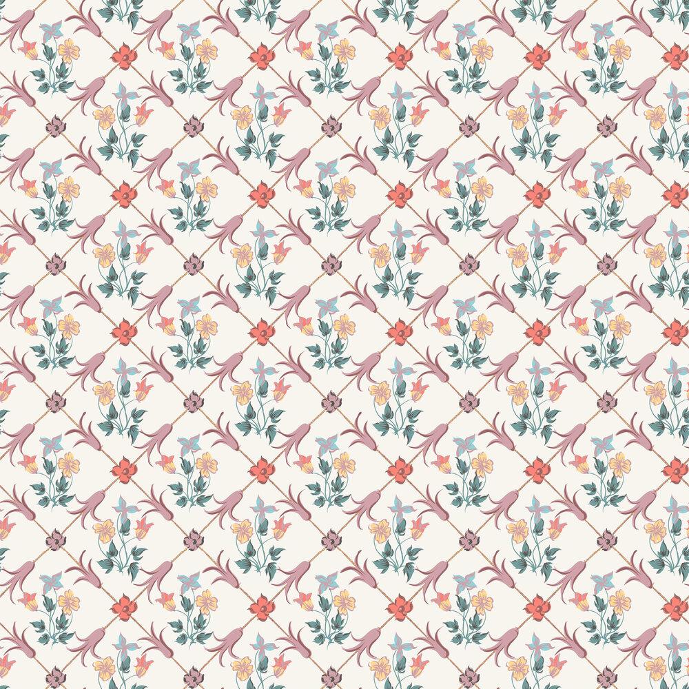 Tessin Wallpaper - Pink - by Boråstapeter