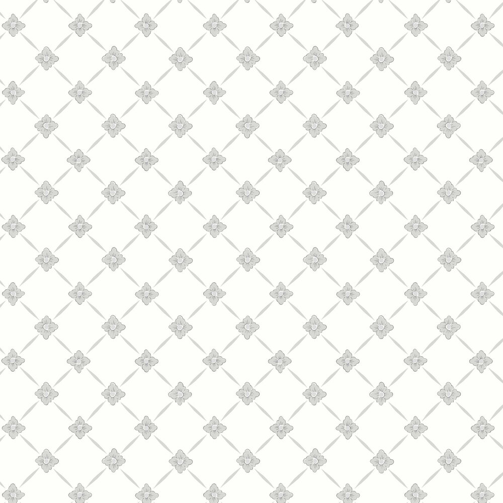Linné Wallpaper - Dove Grey - by Boråstapeter