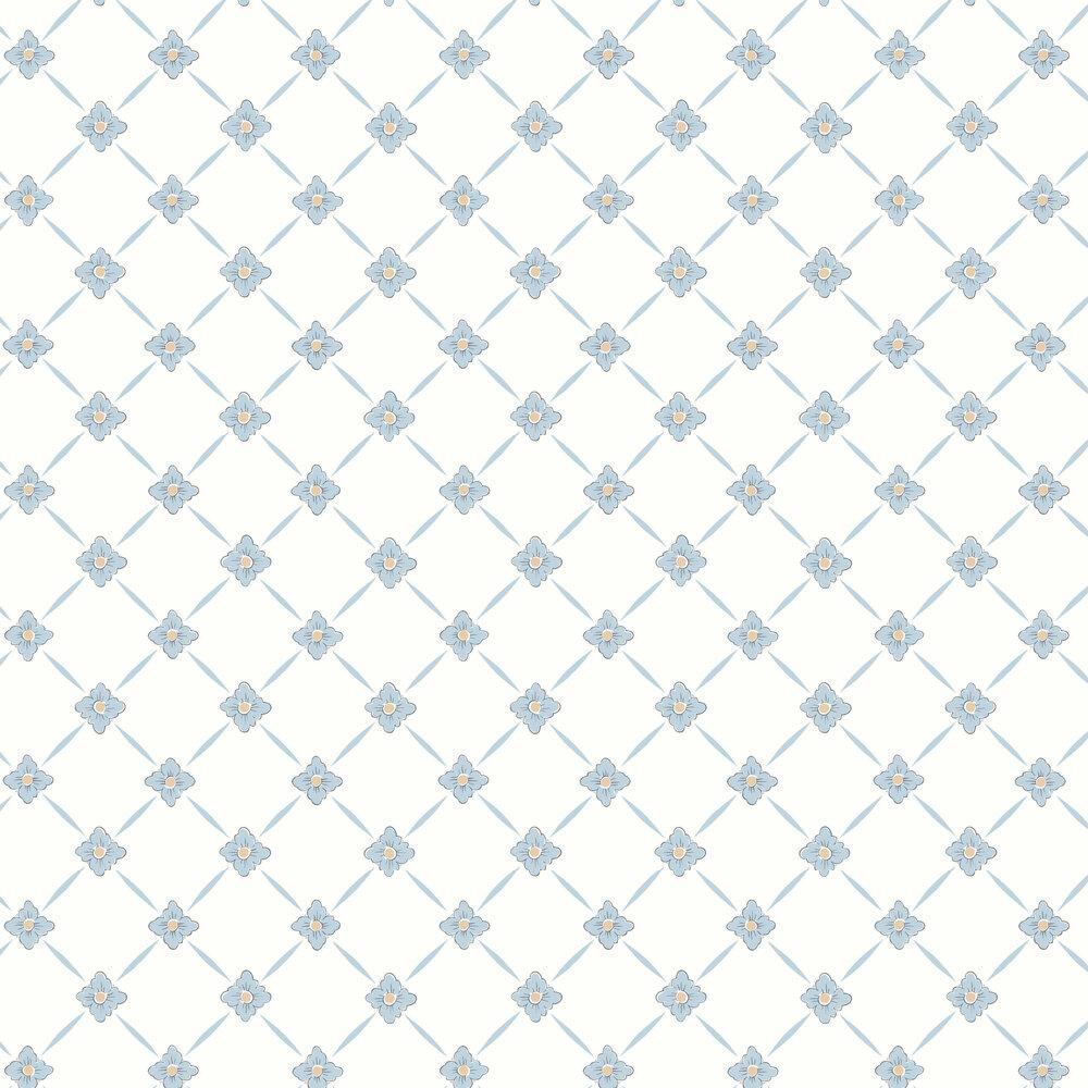 Boråstapeter Linné Blue Wallpaper - Product code: 4506