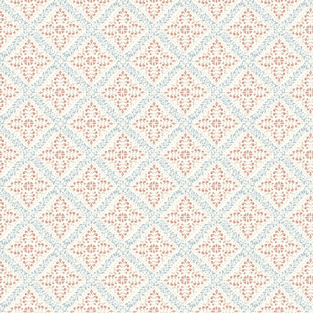 Nyborg Wallpaper - Pink / Blue - by Boråstapeter