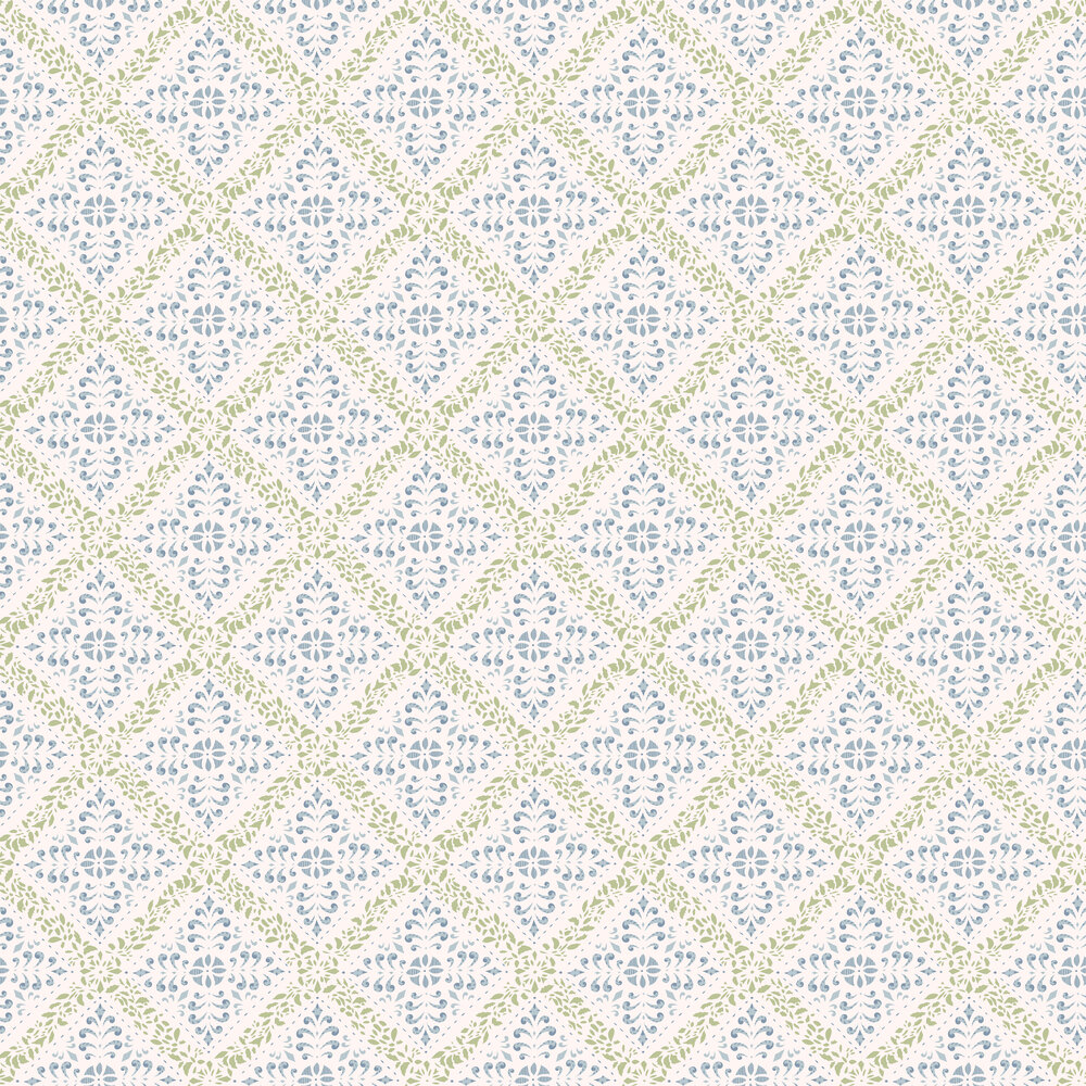 Boråstapeter Nyborg Blue / Green Wallpaper - Product code: 4516