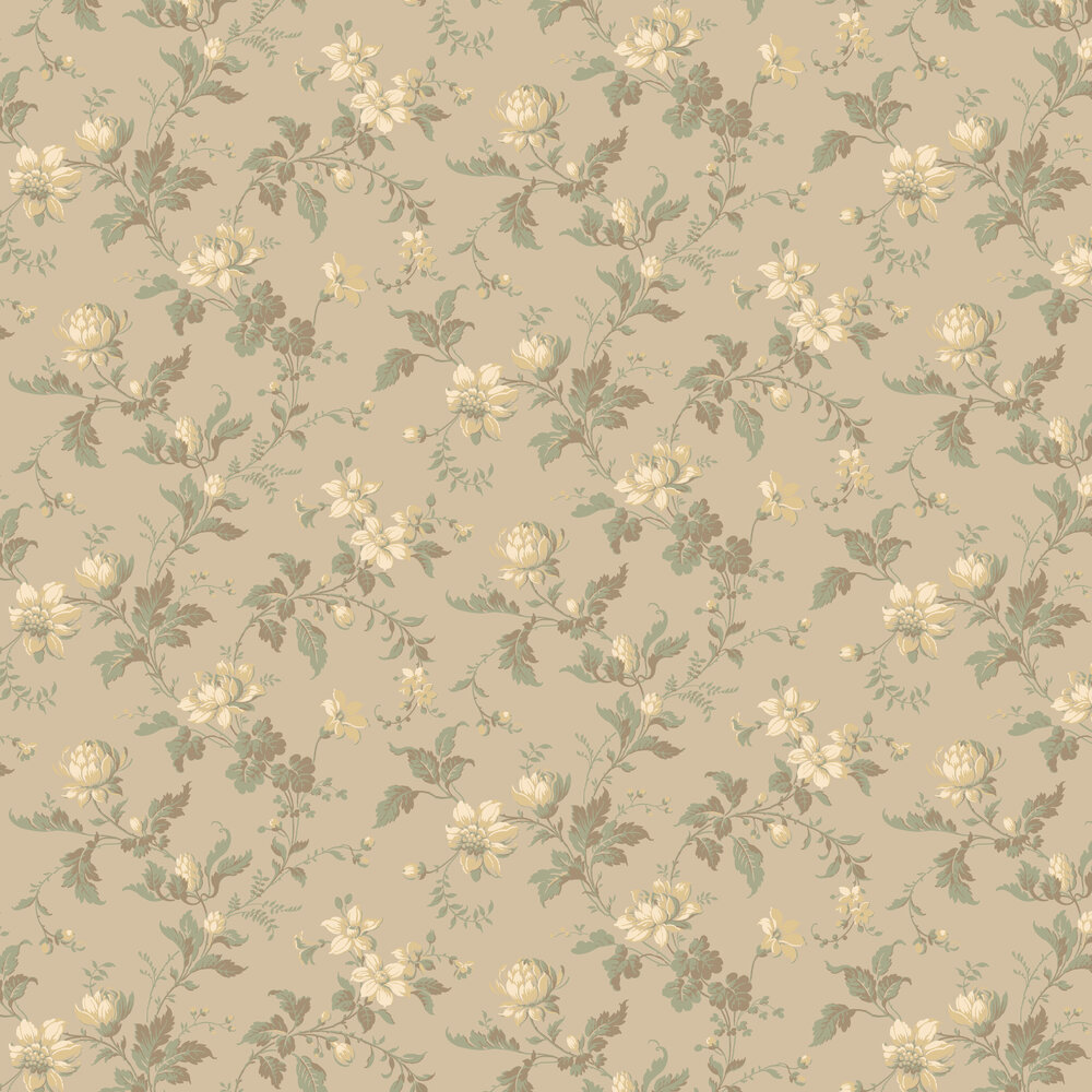 Blomslinga Wallpaper - Beige - by Boråstapeter