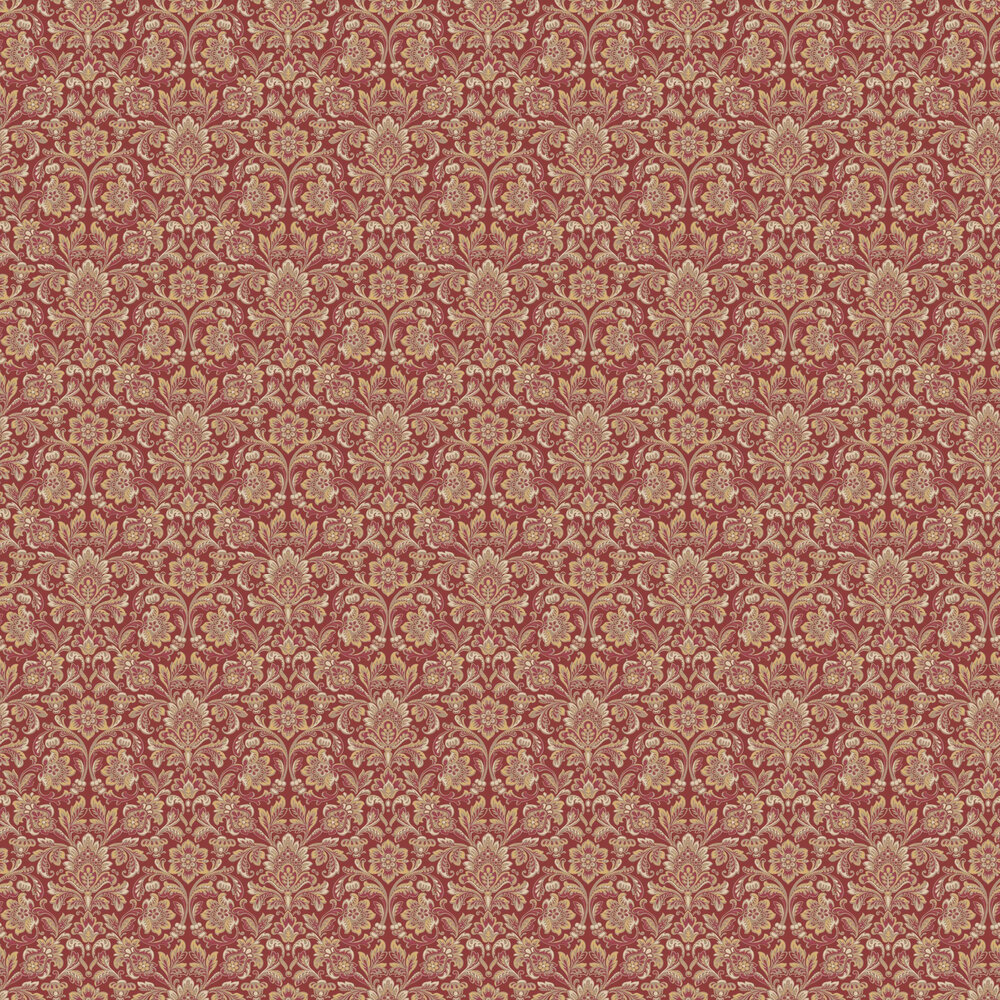 Boråstapeter Foglavik Red / Gold Wallpaper - Product code: 4523