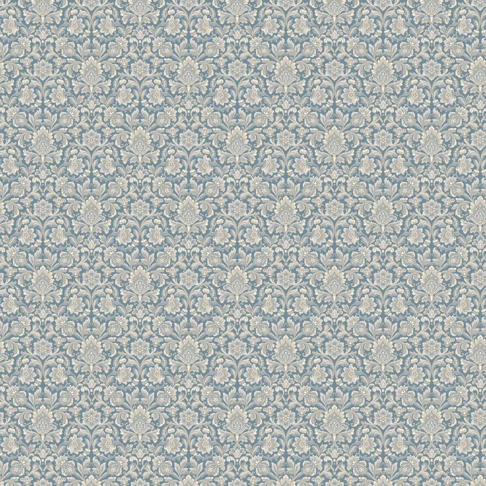 Foglavik Wallpaper - Metallic Blue - by Boråstapeter