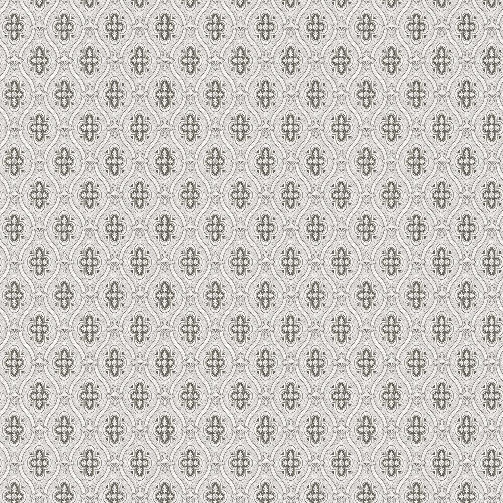 Pigkammaren Wallpaper - Grey - by Boråstapeter