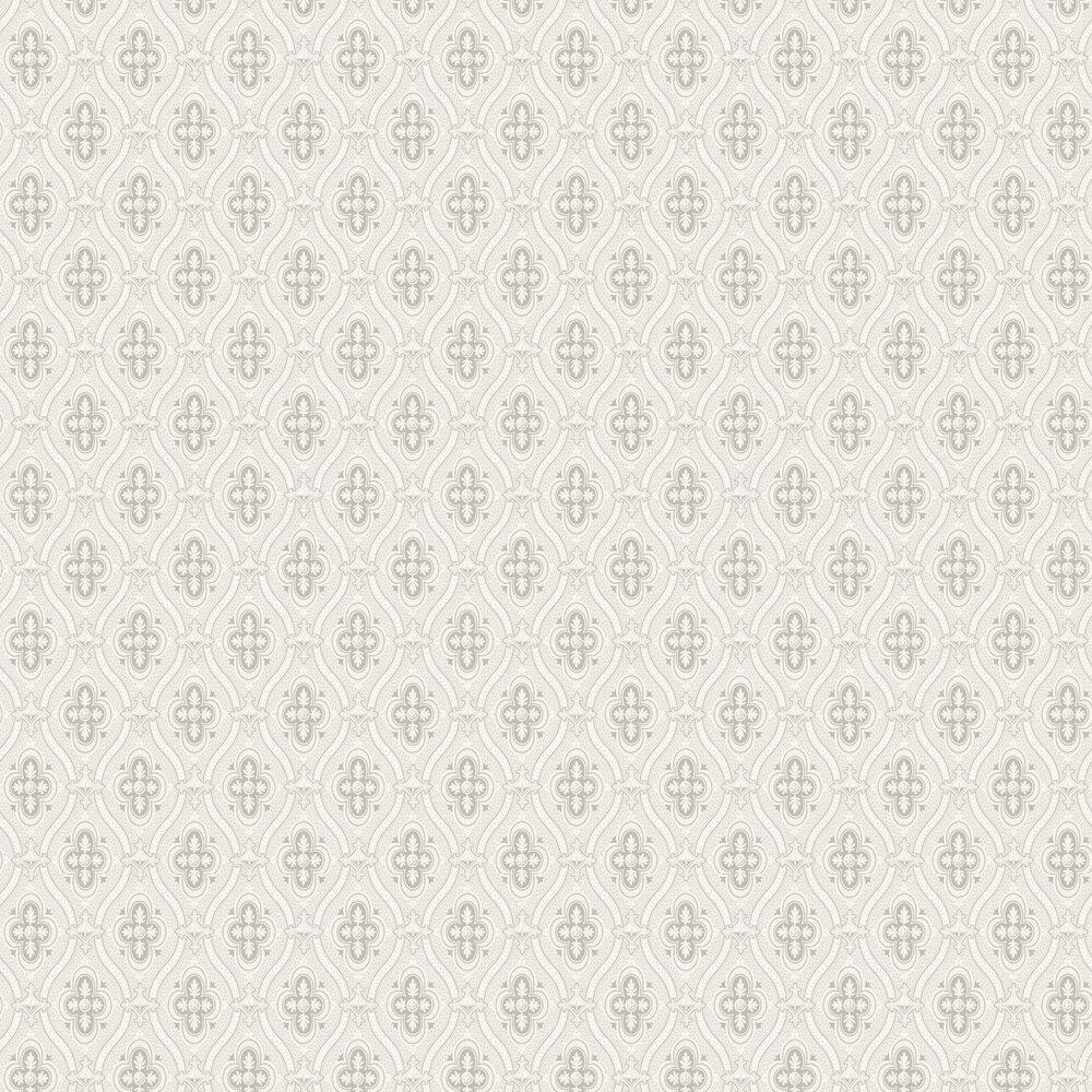 Pigkammaren Wallpaper - Silver and White - by Boråstapeter