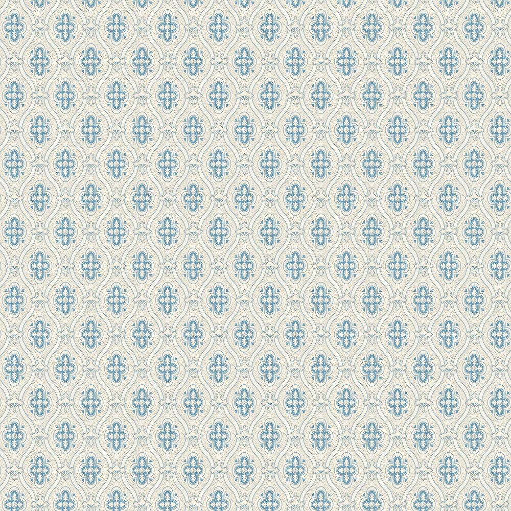 Pigkammaren Wallpaper - Powder Blue and Beige - by Boråstapeter