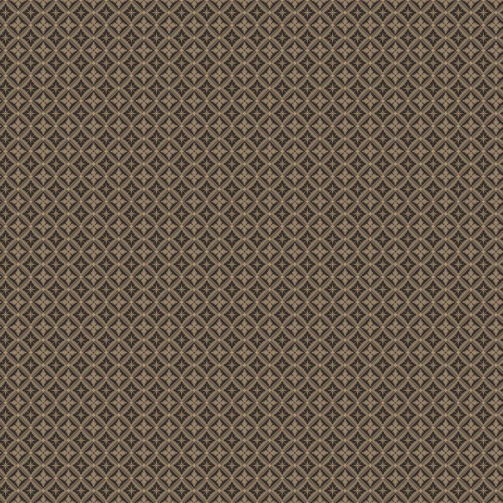 Loka Wallpaper - Black and Gold - by Boråstapeter
