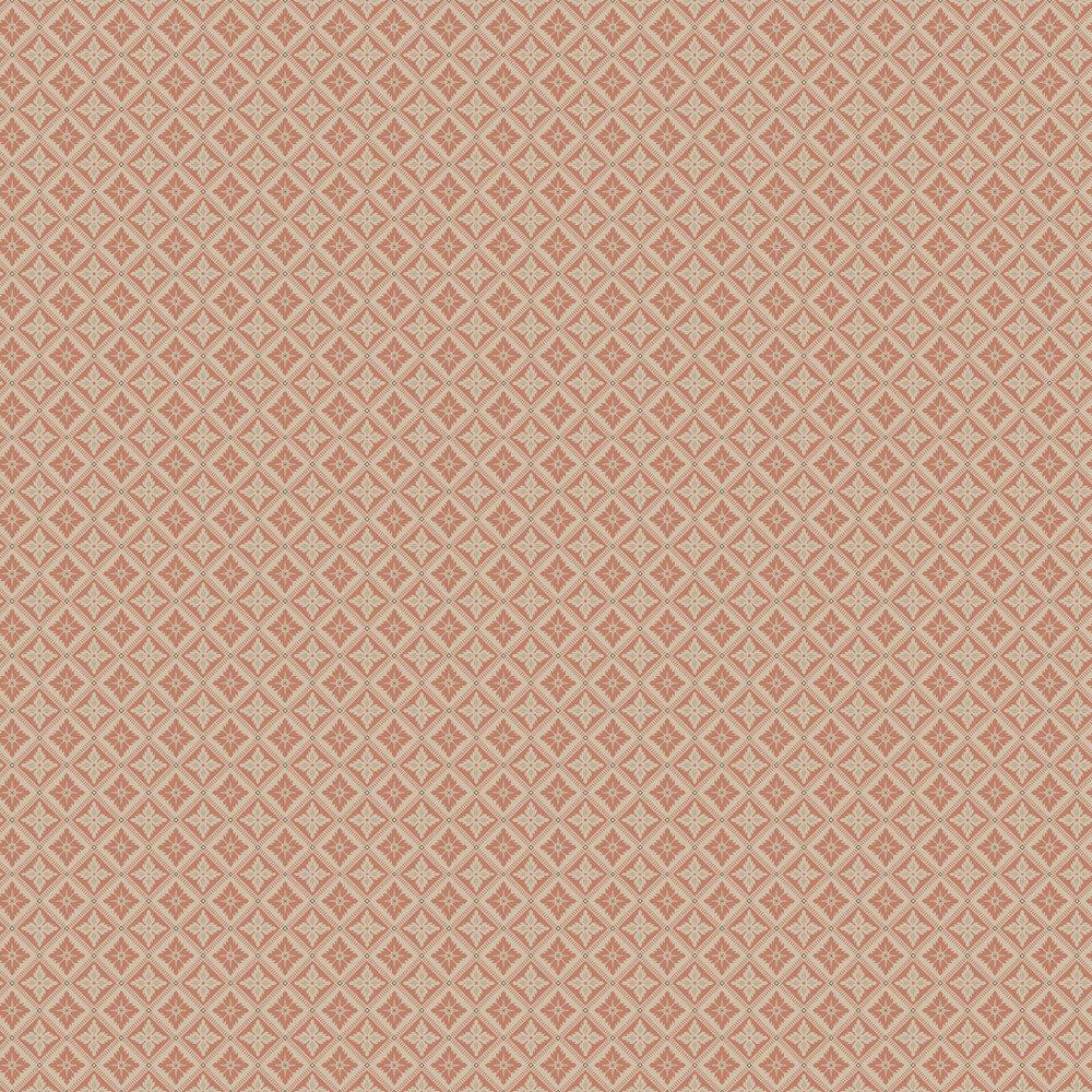 Boråstapeter Loka Burnt Orange and Beige Wallpaper - Product code: 4530