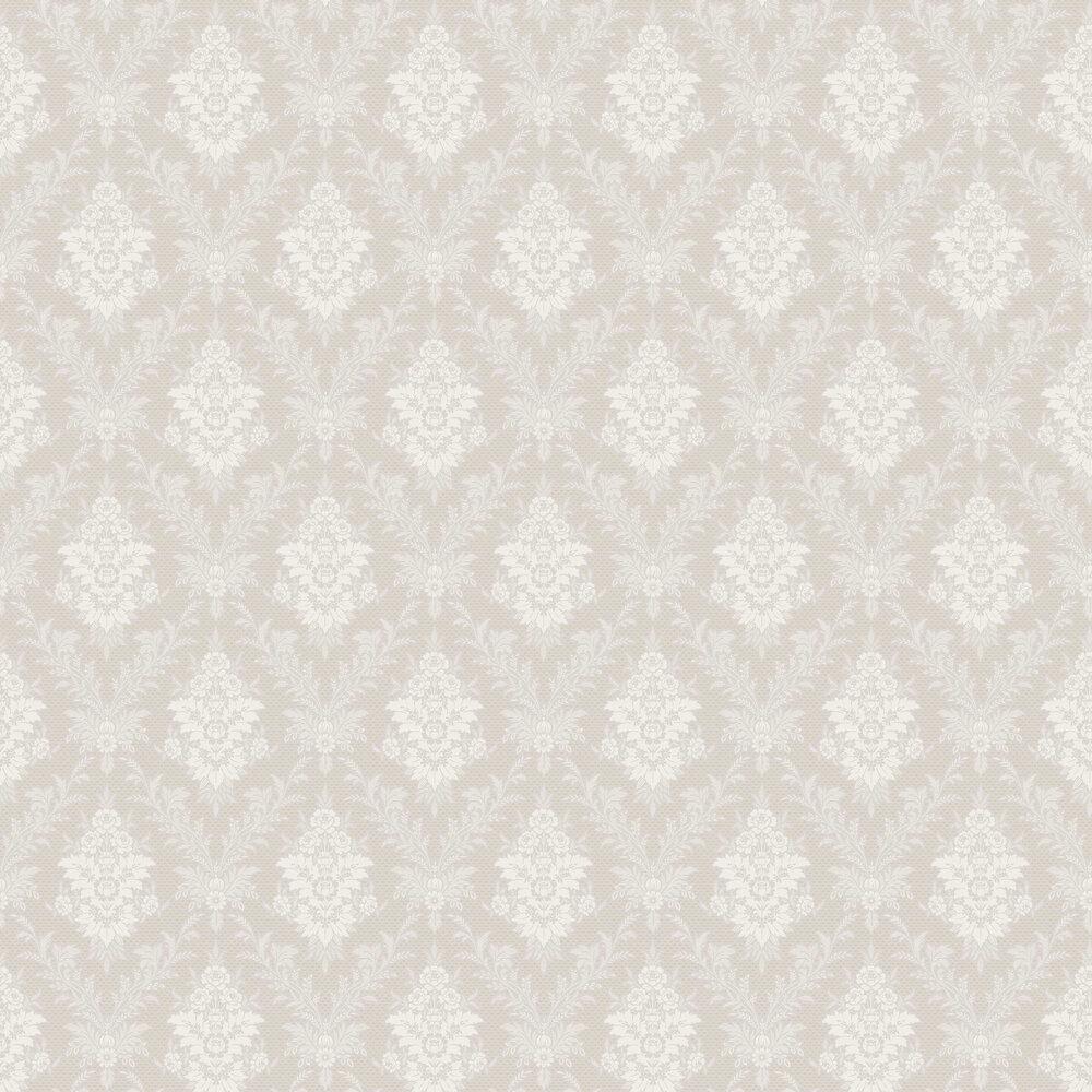 Sofia Wallpaper - Silver - by Boråstapeter