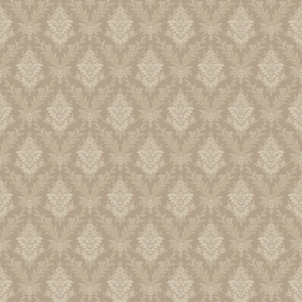 Sofia Wallpaper - Khaki - by Boråstapeter
