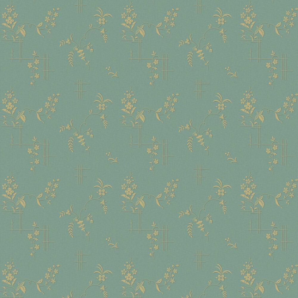 Ulricehamn Wallpaper - Turquoise - by Boråstapeter