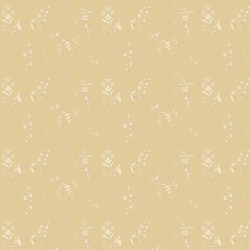 Ulricehamn Wallpaper - Buttermilk Yellow - by Boråstapeter