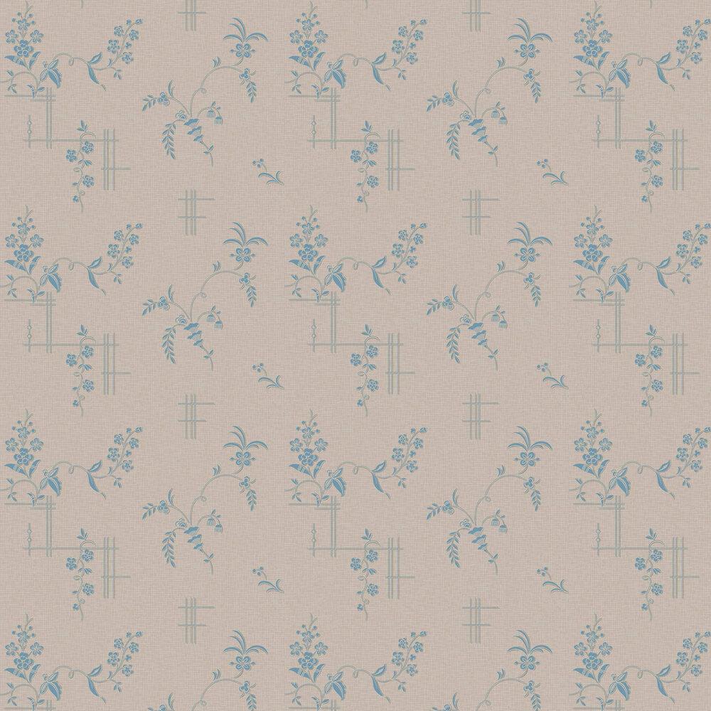 Ulricehamn Wallpaper - Pale Slate and Light Blue - by Boråstapeter