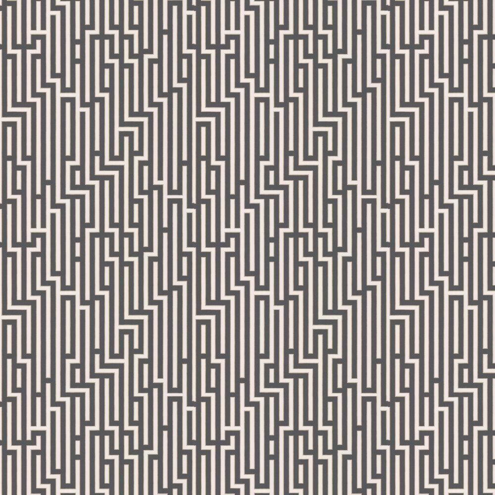 G P & J Baker Fretwork Charcoal Wallpaper - Product code: BW45007/6
