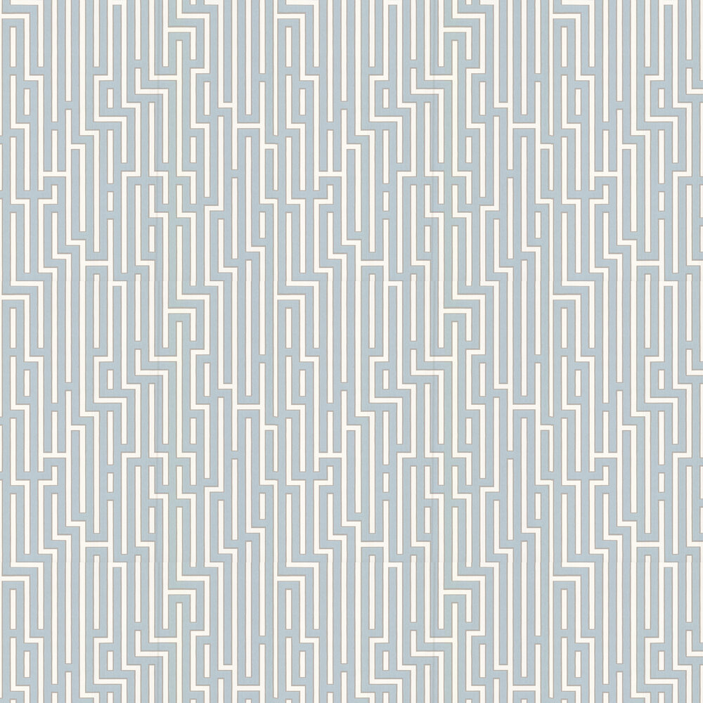 G P & J Baker Fretwork Soft Blue Wallpaper - Product code: BW45007/7
