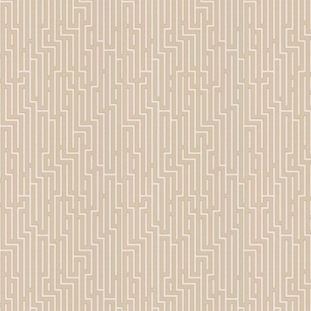 Fretwork Wallpaper - Parchment - by G P & J Baker