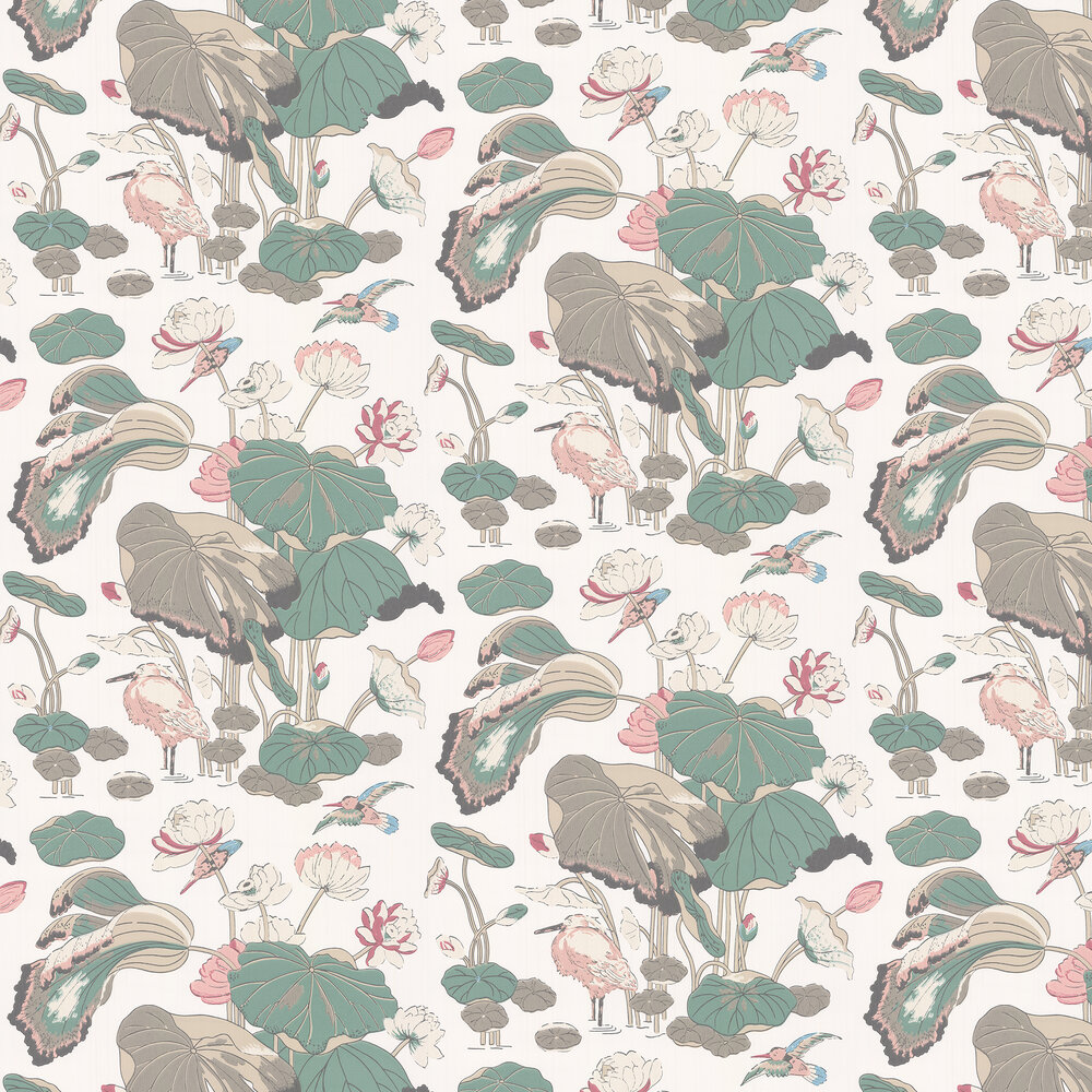 G P & J Baker Nympheus Soft Blush Wallpaper - Product code: BW45083/5