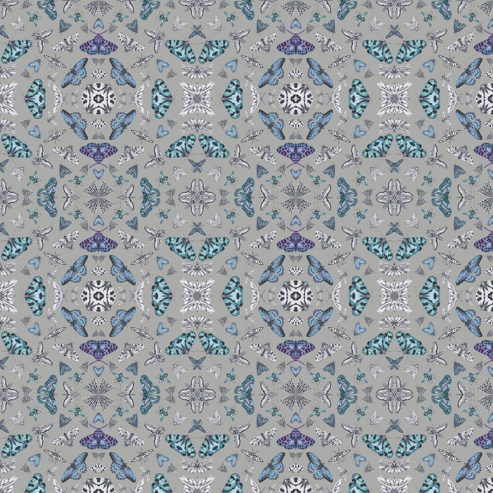 Glitter Bug Wallpaper - Metallic Silver - by Arthouse