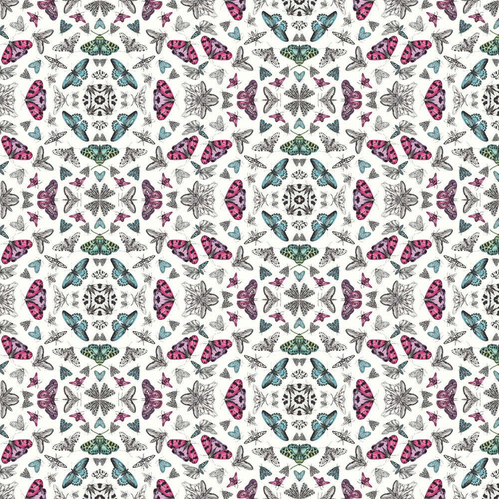 Glitter Bug Wallpaper - White - by Arthouse