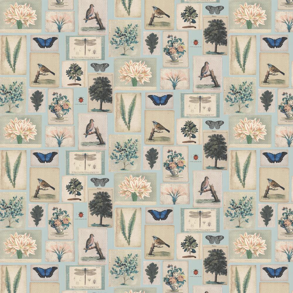 Designers Guild Flora and Fauna Cloud Blue Wallpaper - Product code: PJD6001/02