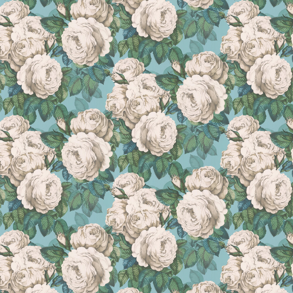 Designers Guild The Rose Swedish Blue Wallpaper - Product code: PJD6002/03