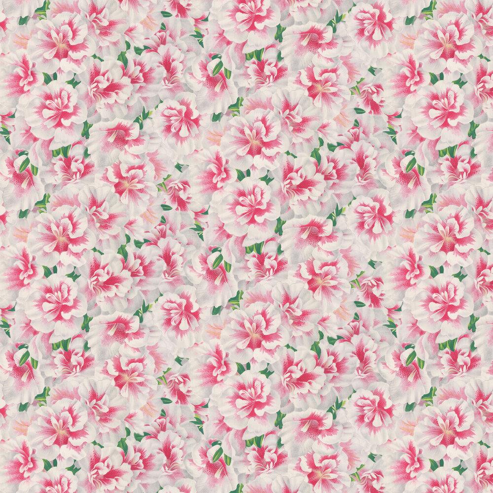 Variegated Azalea Wallpaper - by Designers Guild