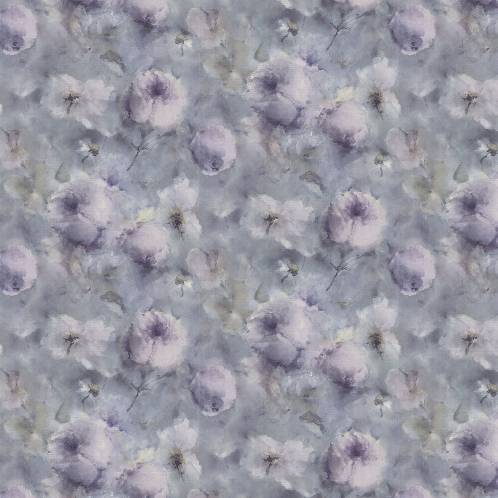 Vincenza Floral Wallpaper - Blue - by Albany