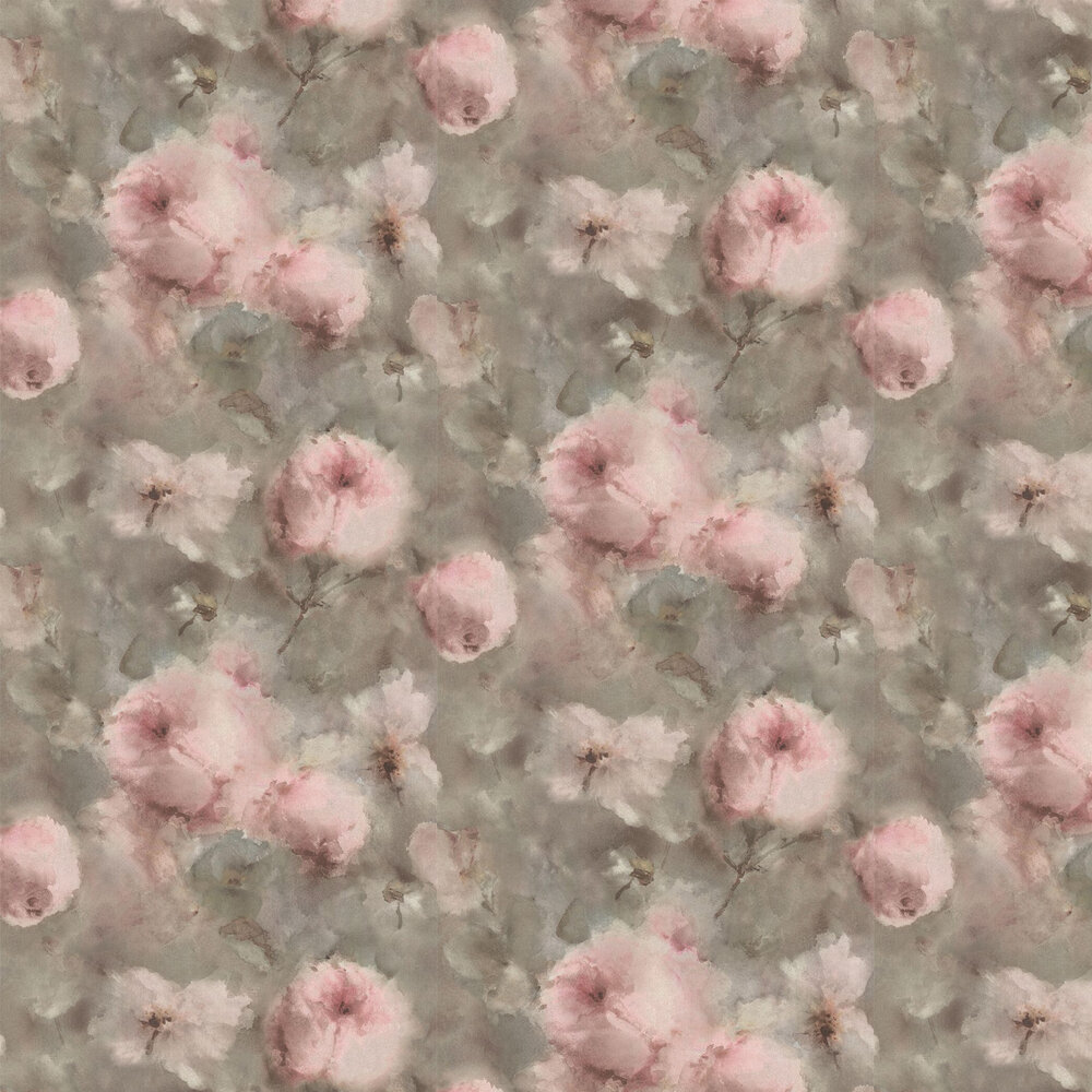 Vincenza Floral Wallpaper - Dusky Pink - by Albany
