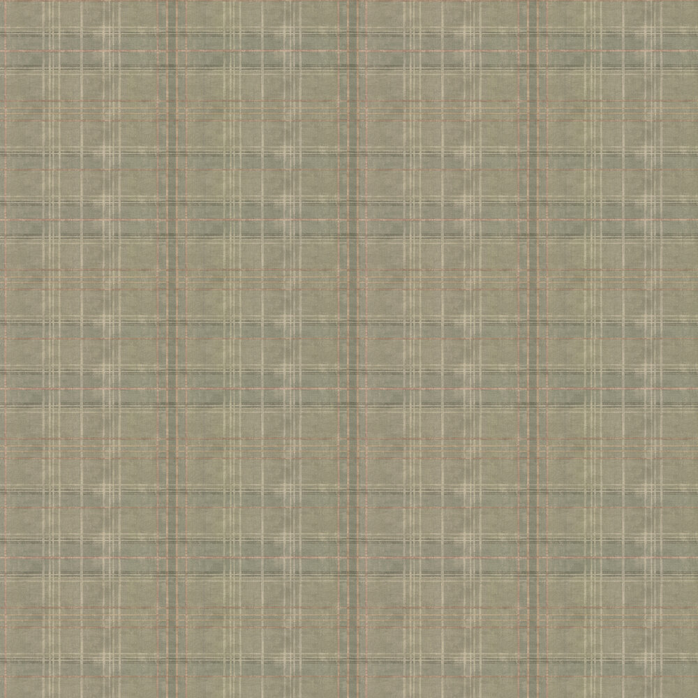 Shetland Plaid Wallpaper - Lovat - by Mulberry Home