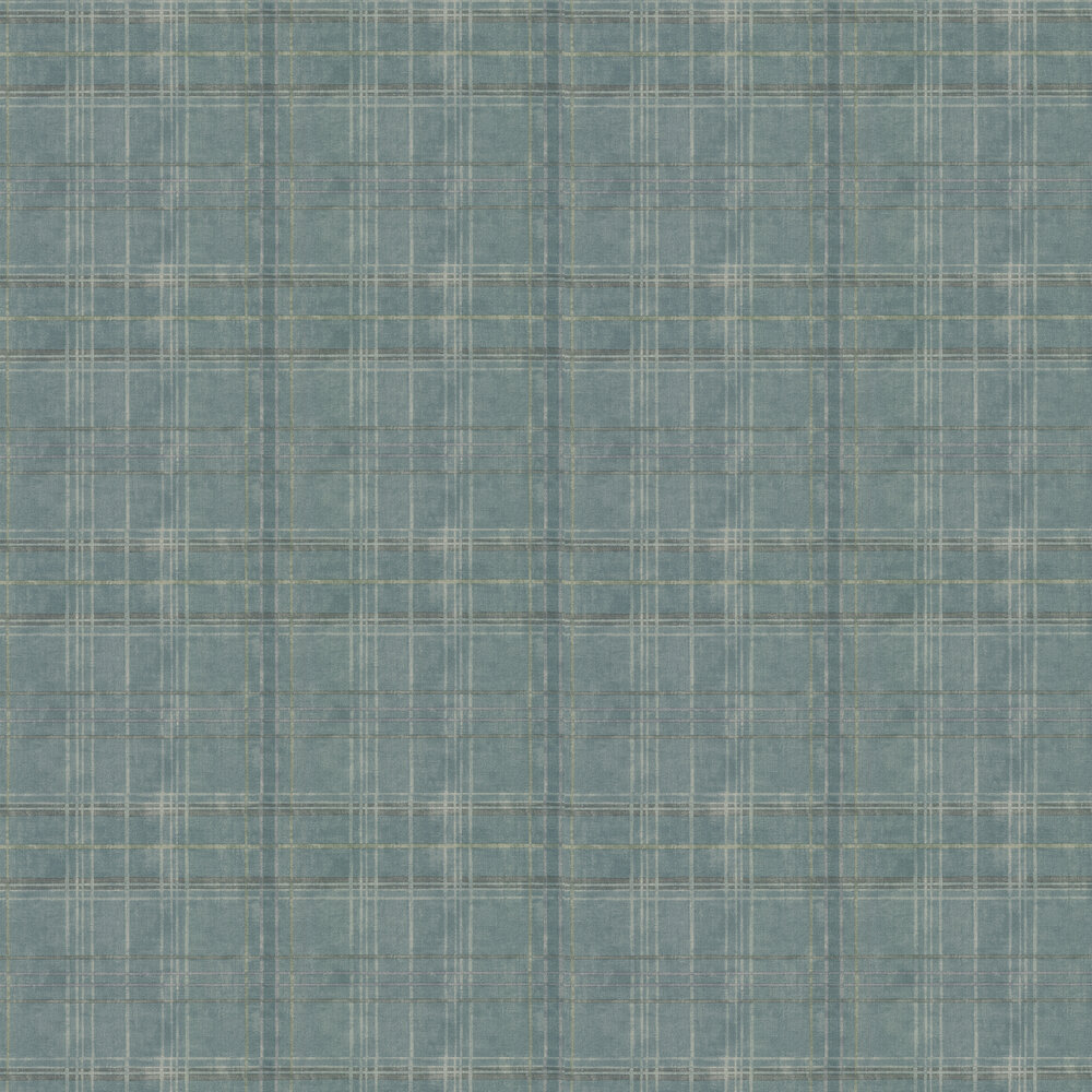 Mulberry Home Shetland Plaid Teal Wallpaper - Product code: FG086R11