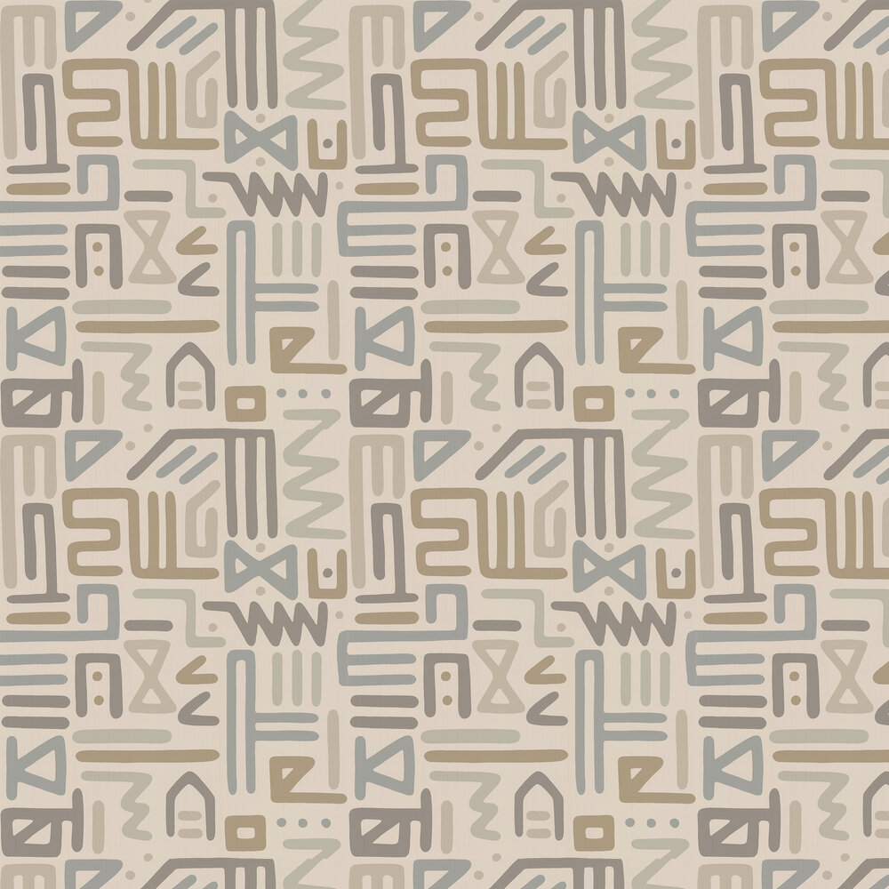 Raindance Wallpaper - Stone - by Mulberry Home