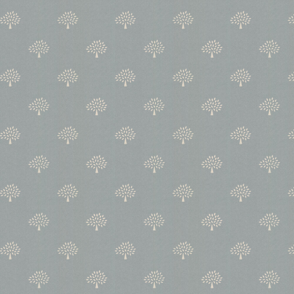 Grand Mulberry Tree Wallpaper - Slate Blue - by Mulberry Home