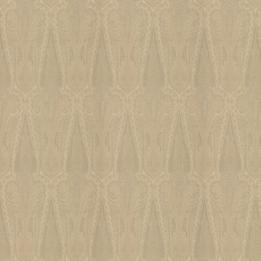 Troika Paisley Wallpaper - Sand - by Mulberry Home