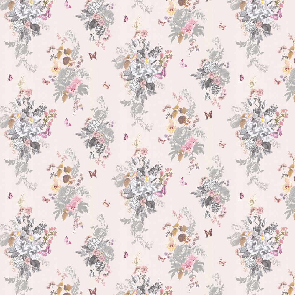 Oasis Botanical Bouquet Ivory Wallpaper - Product code: W0108/03