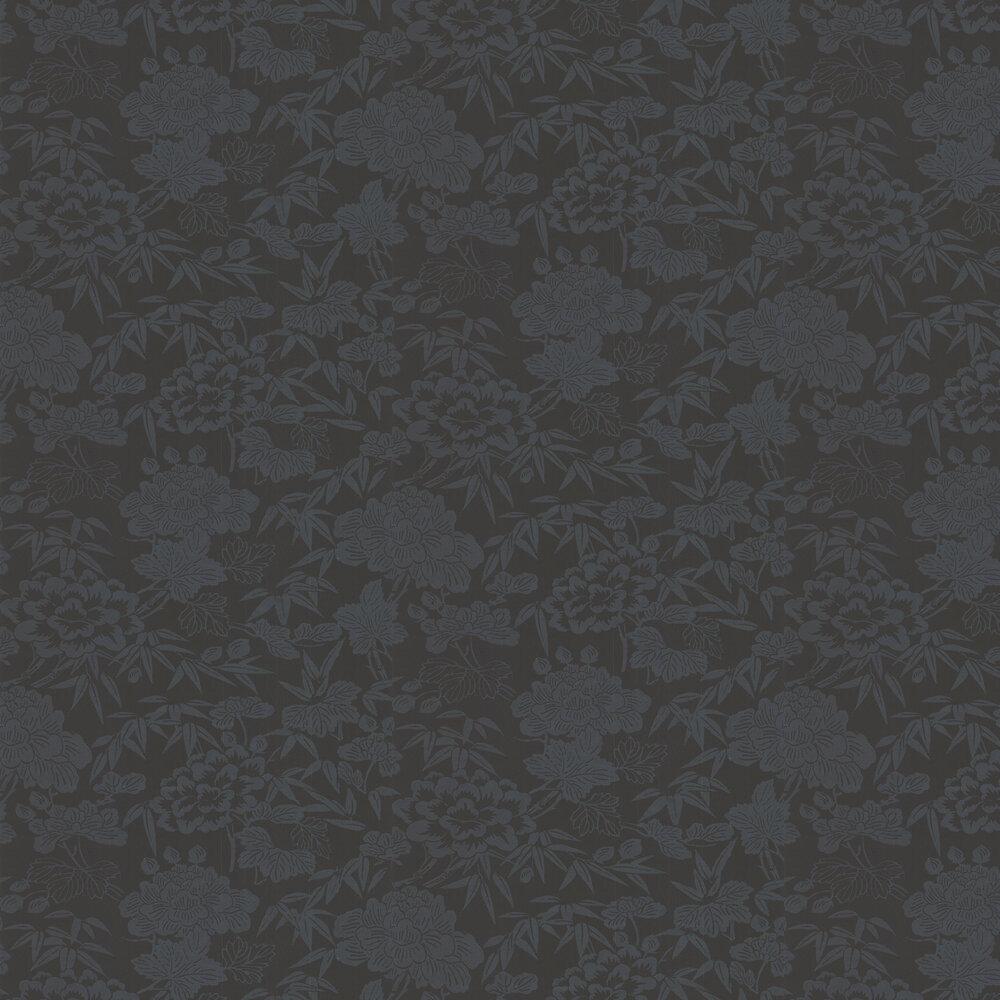 Jasmin Wallpaper - Black - by Oasis