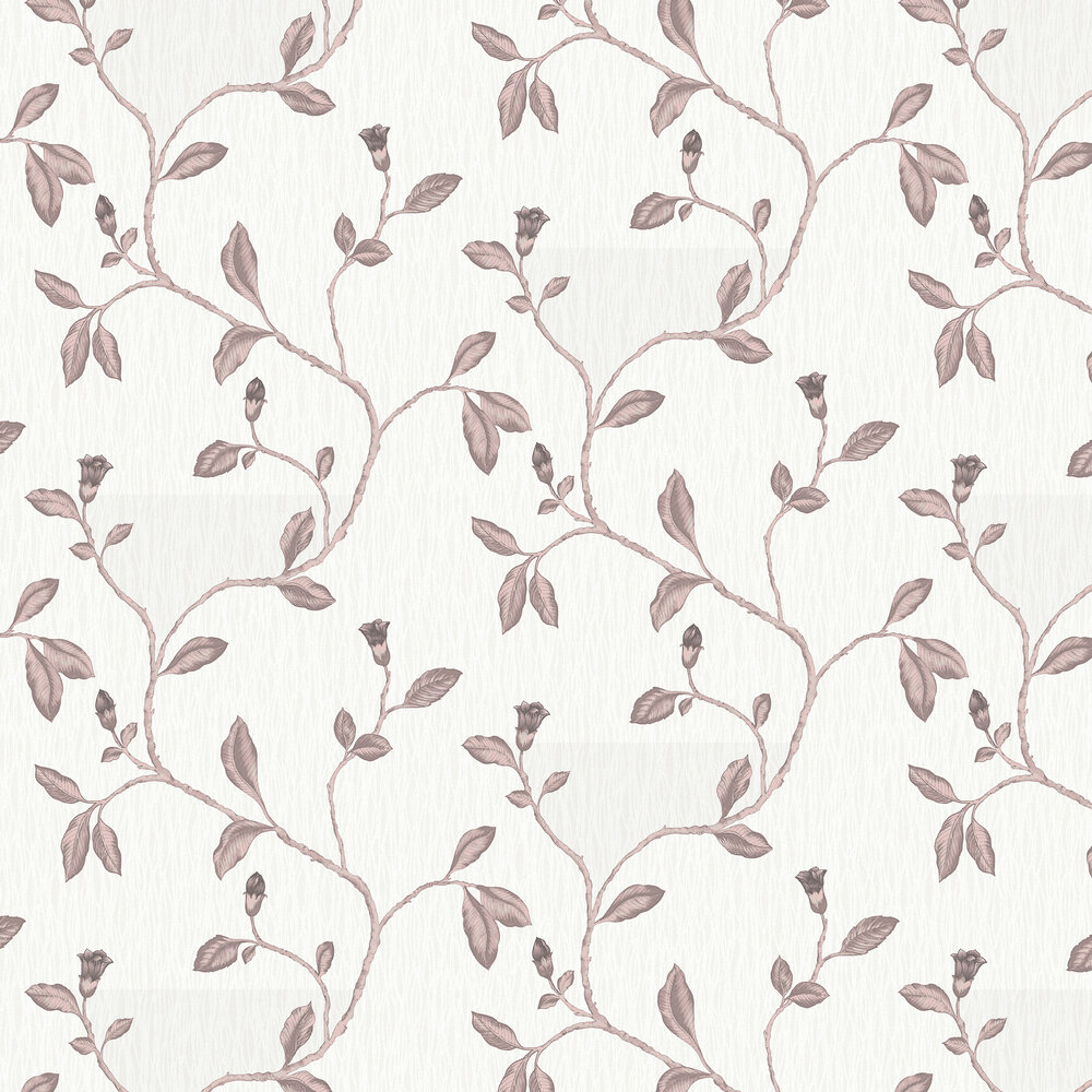 Lia Wallpaper - Cream and Rose Gold - by Albany