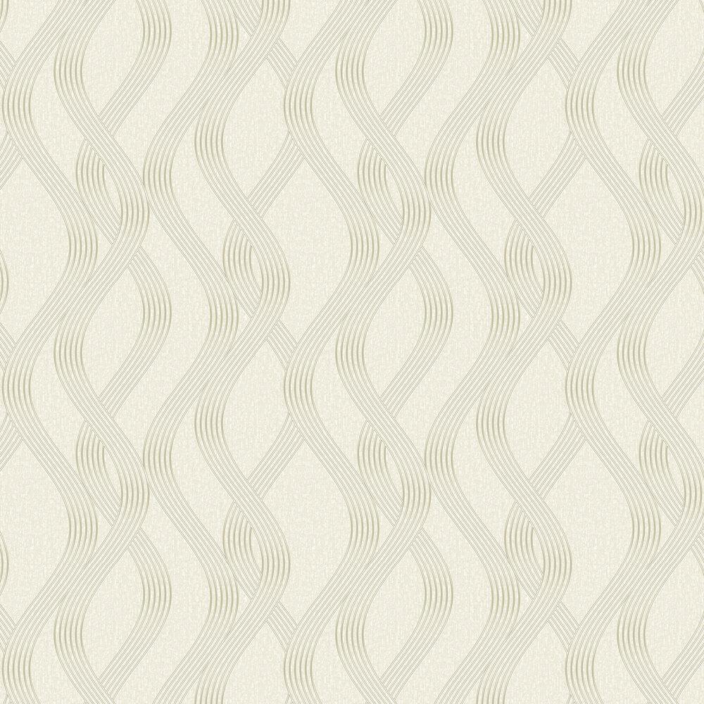 Sofia Wallpaper - Cream - by Albany