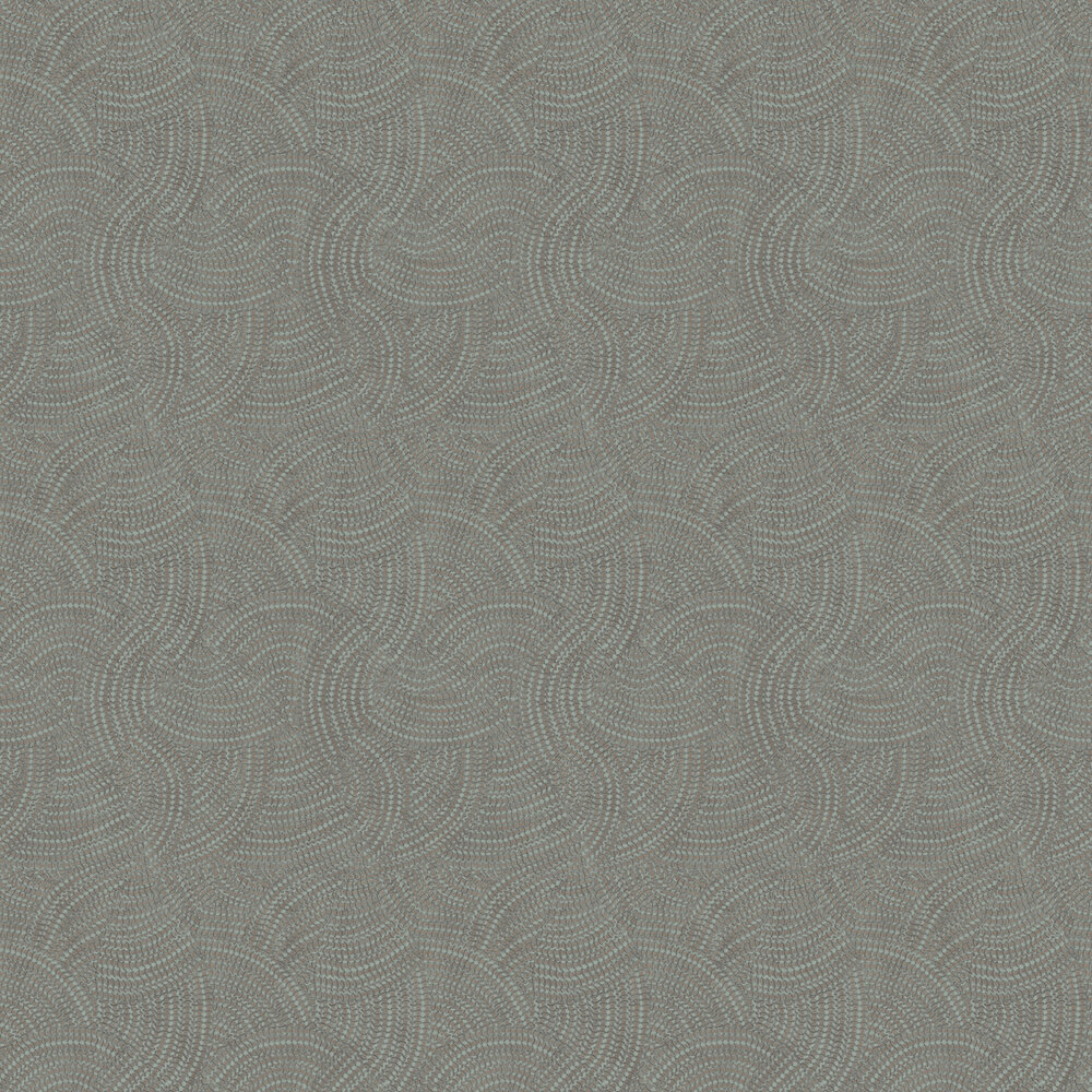 Pave Wallpaper - Sage and Copper - by Albany